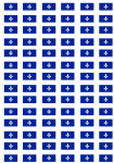 Quebec Flag Stickers - 21 per sheet